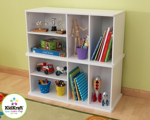 White Add on Storage Unit - KidKraft Furniture - 14179