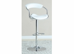 White Adjustable Bar Stool - Set of 2 - 120385