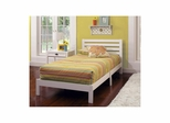 White Aiden Twin Platform Bed - Hillsdale