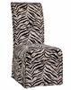 "White and Onyx Tiger Striped Skirted ""Slip Over"" (Fits 741-440 Chair) - Powell Furniture - 741-229Z"