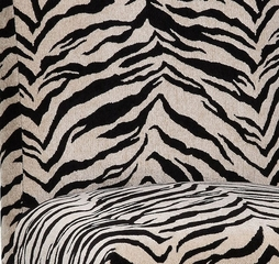 "White and Onyx Tiger Striped ""Slip Over"" (Fits 741-440 Chair) - Powell Furniture - 741-228Z"