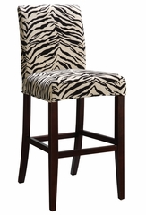 "White and Onyx Tiger Striped ""Slip Over"" for Counter Stool or Bar Stool - Powell Furniture - 742-228Z"