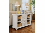 White Camden Baskets Console Table - Lea American Drew - 920-925
