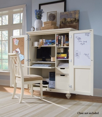 White Camden Home Office Cabinet - Lea American Drew - 920-944