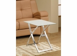 White & Chrome Snack Table - 901015