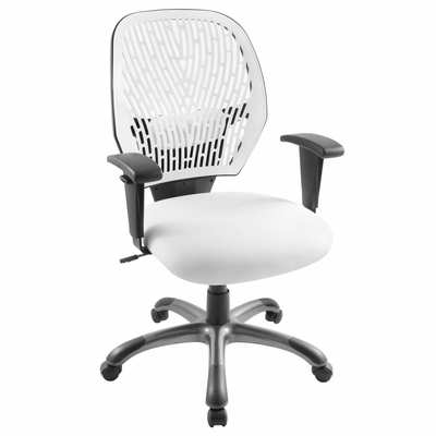 White Cyber Office Chair - LumiSource - OFC-CYBER-W