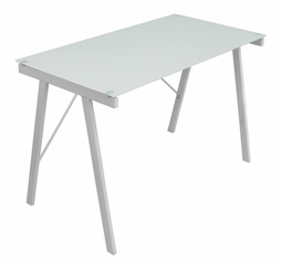White Exponent Office Desk - LumiSource - OFD-TM-PBLNK W