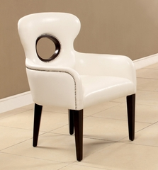White Finish Chair - Odo - 15053