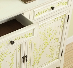 White Hand Painted 2-Door Console - Powell Furniture - 246-332