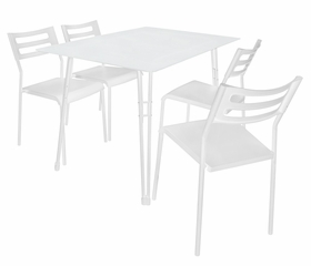 White Harmony Dining Set - LumiSource - DS-CF-UNT-W-W