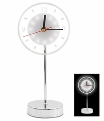 White LED Clock Small - LumiSource - AD-CL-SM-LED-W