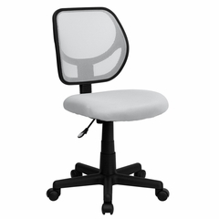 White Mesh Computer Chair - WA-3074-WHT-GG