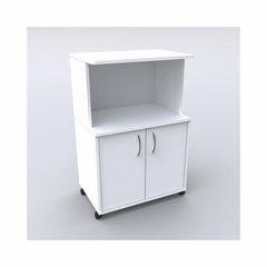 White Microwave Cart with Closed Storage - Nexera Furniture