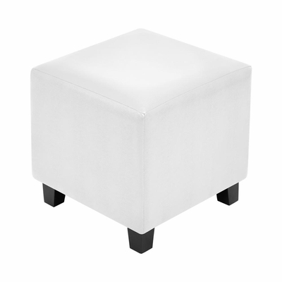 White Serpent Cube Ottoman - Lumisource