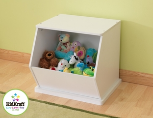 White Single Storage Unit - KidKraft Furniture - 14177