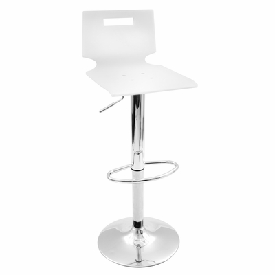 White Sparkle Barstool - LumiSource - BS-YS-SPRKL-W