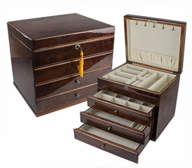 Whitehall Jewelry Box in Walnut - JBQ-SA110