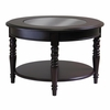 Whitman Round Glass Top Coffee Table - Winsome Trading - 40030