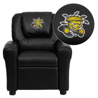 Wichita State University Shockers Kids Recliner - DG-ULT-KID-BK-45030-EMB-GG