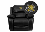 Wichita State University Shockers Leather Rocker Recliner - MEN-DA3439-91-BK-45030-EMB-GG