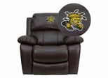 Wichita State University Shockers Leather Rocker Recliner - MEN-DA3439-91-BRN-45030-EMB-GG