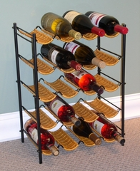 Wicker Wine Rack in Wicker/Metal - 4D Concepts - 263015