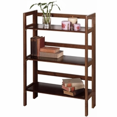 Wide 3-Tier Folding and Stackable Shelf - Winsome Trading - 94896