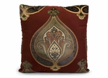 Wilhelmina Square Pillow - 18 x 18 - IMAX - 42072