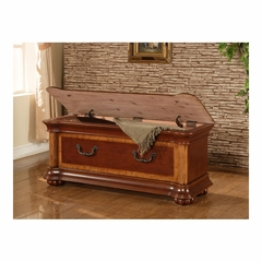 Wilmington Cherry & Burl Cedar Chest - Powell