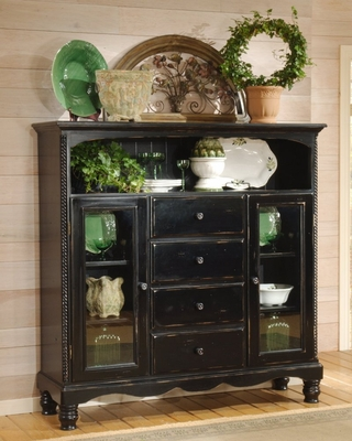 Wilshire Four Drawer Baker's Cabinet in Rubbed Black - Hillsdale Furniture - 4509-854
