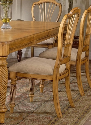 Wilshire Side Chair in Antique Pine (Set of 2) - Hillsdale Furniture - 4507-802