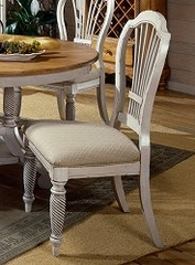 Wilshire Side Chair in Antique White (Set of 2) - Hillsdale Furniture - 4508-802