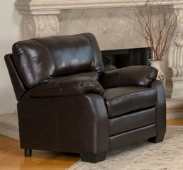Wilshire Top Grain Leather Armchair - Abbyson Living - CI-1307-BRN-1