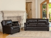 Wilshire Top Grain Leather Sofa and Chair Set - Abbyson Living - CI-1307-BRN-3-1