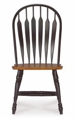 Windsor Steambent Arrowback Chair in Black / Cherry - 1C57-1206
