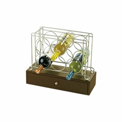 Wine Caddy I with Drawer in Satin Nickel - Howard Miller
