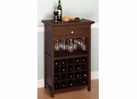 Wine Storage with Glass Holder and Drawers - Winsome Trading - 94441