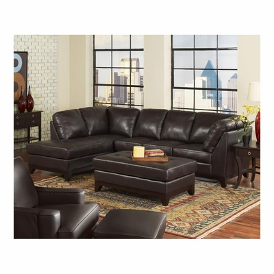 Winfield Sectional Right Facing Sofa with Chaise and Cocktail Ottoman - Largo - LARGO-WG-L2506-SET
