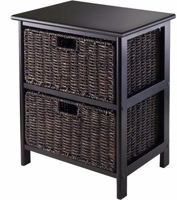 Winsome Trading Omaha Storage Rack with 2 Foldable Baskets