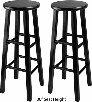 Winsome Wood Set of 2 Square Leg Stools