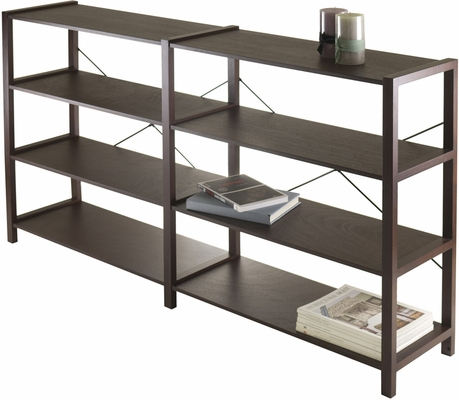 Winsome Wood Sheldon Four-Tier Crossed Wired Shelf