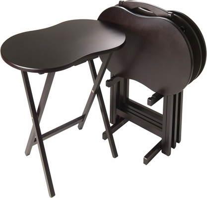 Winsome Wood Skippy TV Table Set Peanut Top, Five-Piece