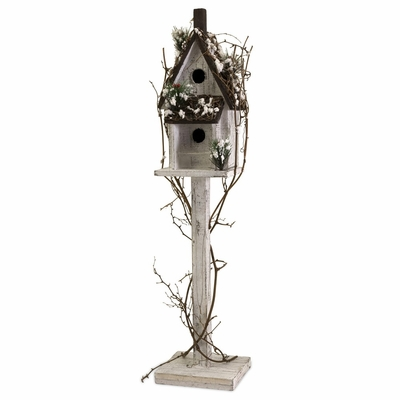 Winter Season Standing Birdhouse - IMAX - 59013
