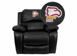 Winthrop University Eagles Embroidered Black Leather Rocker Recliner  - MEN-DA3439-91-BK-45031-EMB-GG