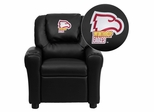 Winthrop University Eagles Embroidered Black Vinyl Kids Recliner - DG-ULT-KID-BK-45031-EMB-GG