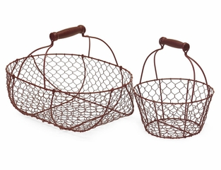 Wire Baskets (Set of 2) - IMAX - 5697-2