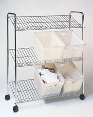 Wire Tote Cart - Mayline Office Furniture - CTT2