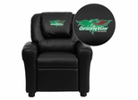 Wisconsin - Green Bay Phoenix Black Vinyl Kids Recliner - DG-ULT-KID-BK-45027-EMB-GG