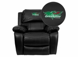 Wisconsin - Green Bay Phoenix Embroidered Black Leather Rocker Recliner  - MEN-DA3439-91-BK-45027-EMB-GG