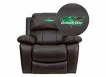 Wisconsin - Green Bay Phoenix Embroidered Brown Leather Rocker Recliner  - MEN-DA3439-91-BRN-45027-EMB-GG